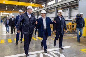 Главы двух регионов посетили индустриальный парк «Станкомаш»